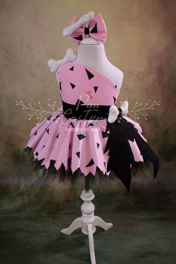 Pebbles Flintstone Outfit for Kids Pink