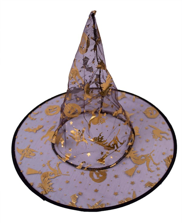 Printed Tulle Witch Hat Standard Size