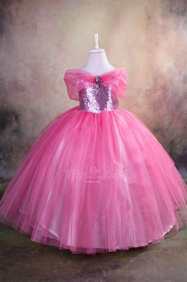 Pink Princess Party Gown for Kids