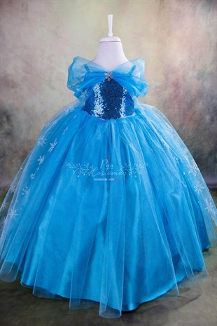 Frozen Elsa Dress with Petticoat