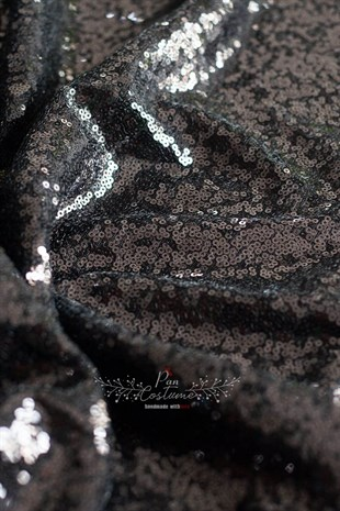 Black Sequin Table Cloth
