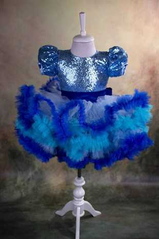 Blue Fluffy Tutu Outfit