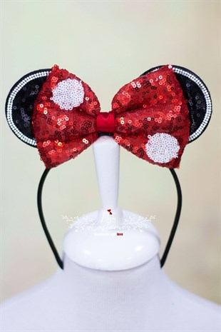 Minnie Mouse Sequined Red Hairband