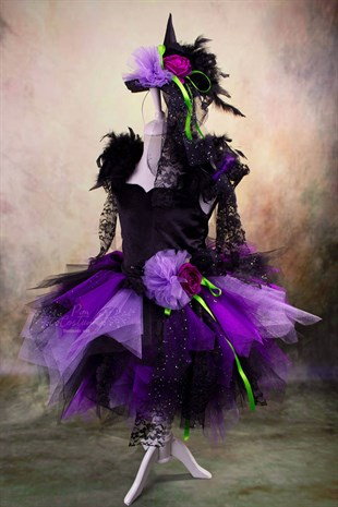 Purple Witch Girls' Tutu Dress