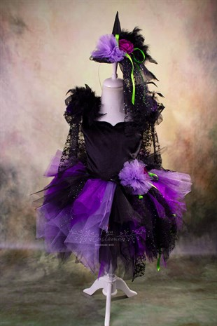 Purple Witch Girls Tutu Dress