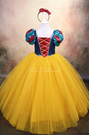 Snow White Long Dress Yellow Skirt
