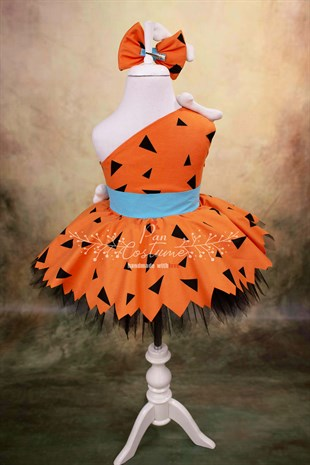 Pan Costume Pebbles Flintstone Outfit for Kids