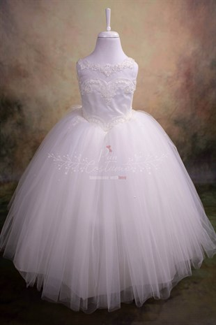 Guipure Neck Bridesmaid / Communion Dress