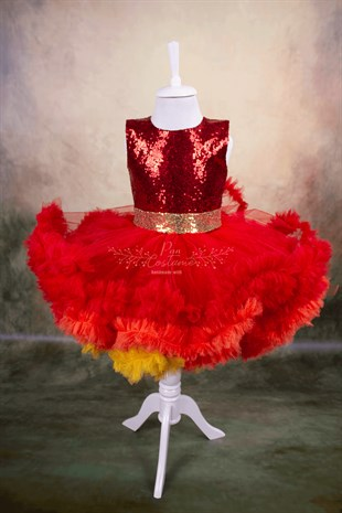 Red Fluffy Tutu Dress