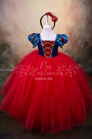 Snow White Long Dress Red Skirt
