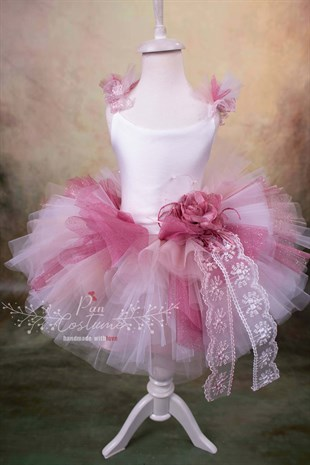 Pink Rose Tutu Dress for Kids