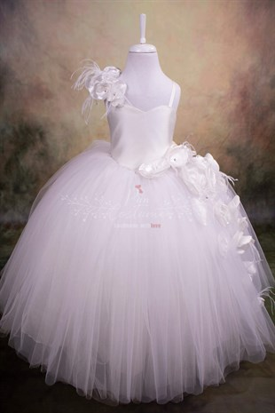 White Rose Bridesmaid / Communion Dress