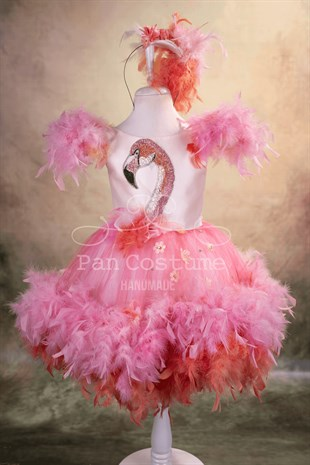 Flamingo Dress For Girls