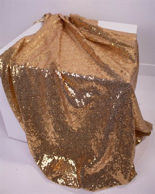 Gold Colour Sequin Table Cloth