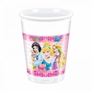 Disney Princesses Disposable Party Glass Set of 8