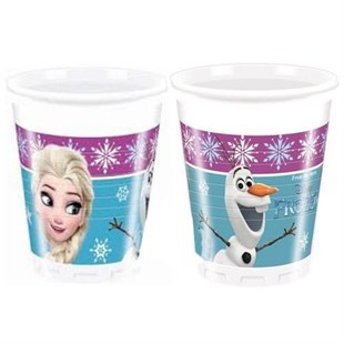 Frozen Disposable Party Glass Set of 8