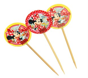Minnie Mouse Party Appetizer Pick Set of 10