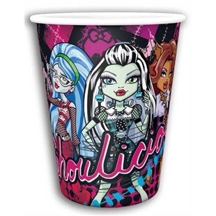 Monster High Disposable Party Glass Set of 8