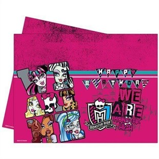 Monster High Disposable Birthday Party Table Cloth