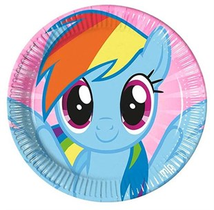 My Little Pony Disposable Party Plate Set of 8