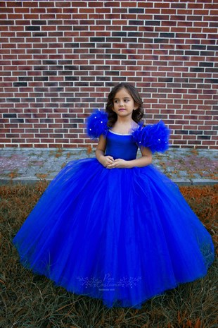 Saks Blue Princess Dress