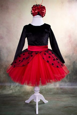 Ladybug Velvet Girls Dress